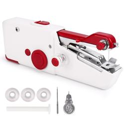 Portable Stitch Sew Hand Held Quick Sewing Machine Handy Cor