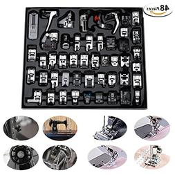 48 Pcs Presser Feet Set with Manual & Case artSew Sewing Mac