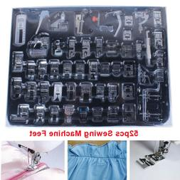 52pcs Presser Foot Feet For Brother Singer Domestic Sewing M