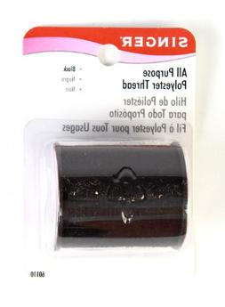 Singer All Purpose Polyester Thread, 150 yd, Black, 3-Pack