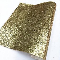 "ZAIONE 10"" x 53""  Rolling Sparkly Chunky Glitter Vinyl Fabri"