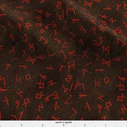Spoonflower Runes Fabric Runes On Leather by Arts And Herbs