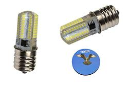 """HQRP 2-Pack Screw-In 5/8"""" Base #2SCW Sewing Machine LED Ligh"""