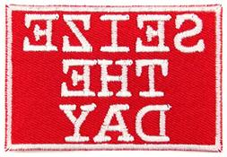 Seize The Day Musical Theater Iron On Patch Applique - Red,