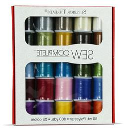 Sew Complete by Superior Threads - 25 Assorted Colors of 50