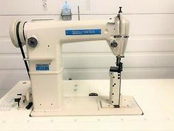 SEW LINE 810  NEW 1-NEEDLE POSTBED ROLL FEED +REV 110V INDUS