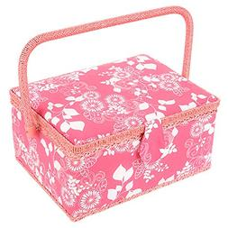 SAXTX Large Sewing Basket with 99Pcs Sewing Kit Accessories|