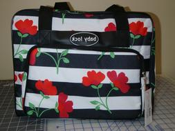 Sewing Machine Carrying Carry Case Black and White Stripes w