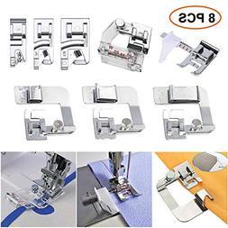 Sewing Machine Feet,3Pcs Rolled Hem Pressure Foot Set ,With