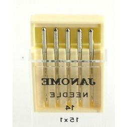 Janome Sewing Machine Needle Universal Size 14 in 5 Needles