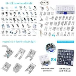 Eurlove Sewing Machine Presser Feet Kit Set 42 pcs for Broth