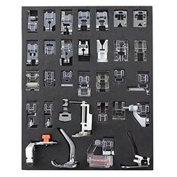 NEX Sewing Machine Presser Feet Set 32pcs Walking Foot for B