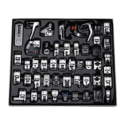 Aiskaer Professional 48pcs Sewing Machine Presser Feet Set f
