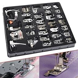 Wefond 32pcs Professional Sewing Machine Presser Feet Set Lo