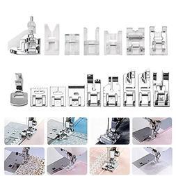 ABEDOE 16pcs Professional Sewing Machine Presser Walking Fee