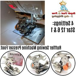Sewing Machine Ruffler Presser Foot Make Ruffles Fits Snap O