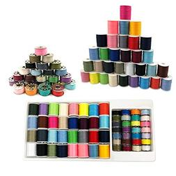 Sewing Machine Thread Kit, dilib 60 Pcs Bobbins Sewing Threa