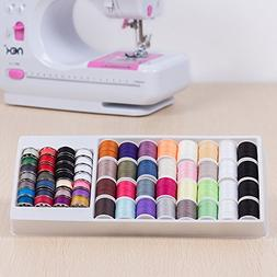 NEX 60 Piece Sewing Thread Kit For Sewing Machine, Mixed Col