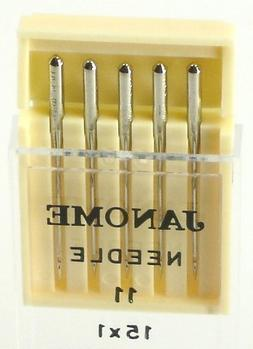 2 X Janome Sewing Machine Universal Needle Size 11 in 5 need