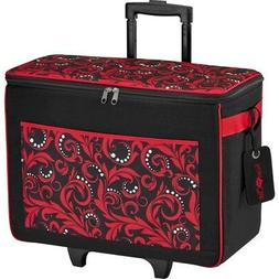 Sewing Rolling Tote Bag Red Mass Craft Storage Party Occasio