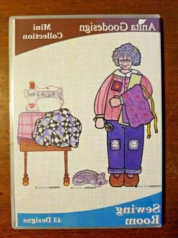 Anita Goodesign Sewing Room Embroidery Machine Design CD NEW