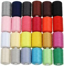 HAITRAL Sewing Thread - 24 Colors 1000 Yards Cotton Thread S