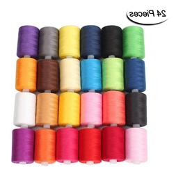 Sewing Thread 24 Colors 1000 Yards Polyester Each Thread Spo