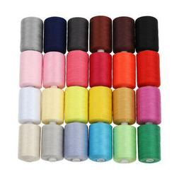 sewing thread 24 colours 1000 yards polyester