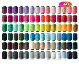 84 Colors Sewing Thread Assortment Coil 250 Yards Each,Sewin