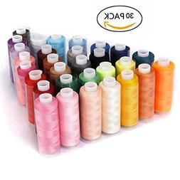 HMMS 30 Color Sewing Thread Polyester 250 Yards Coils for Se