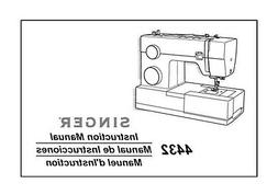 Singer 4432 Sewing Machine/Embroidery/Serger Owners Manual R