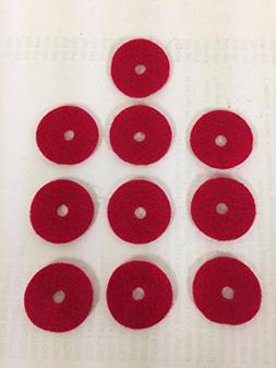 SINGER SEWING MACHINE 10 RED SPOOL PIN FELT PADS CRAFTS