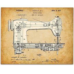 Singer Sewing Machine Patent - 11x14 Unframed Patent Print -