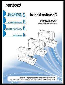 Brother SQ9185 Sewing Machine Manual User Guide Copy Reprint