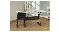 Storage Sewing Machine Table Drawers WHITE Shelf Organizer D
