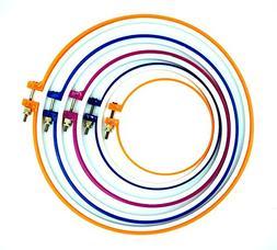 SUNREEK8482; 5 Pieces Plastic Cross Stitch Machine Embroider