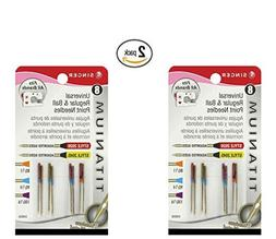 Singer Titanium Universal Reg and Ball Point Machine Needles