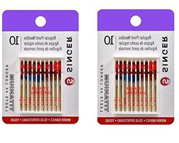 Singer Titanium Universal Regular Point Machine Needles for