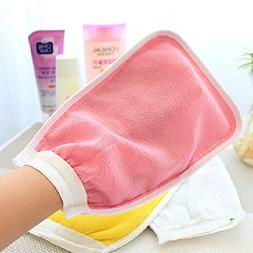 Towels - Exfoliating Mitt Body Scrub Gloves Wash Bathing Sho