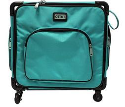 """Tutto 17"""" Turquoise Serger on Wheels"""