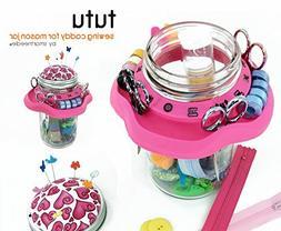 Tutu Creative Sewing Organizer | Turn a Mason Jar into a Bea