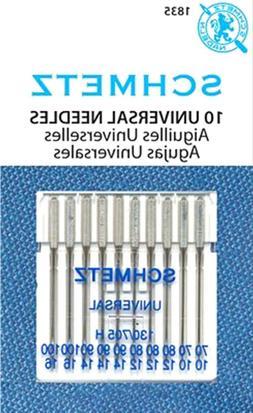 Schmetz Universal Sewing Machine Needles Sz10/70, 12/80, 14/