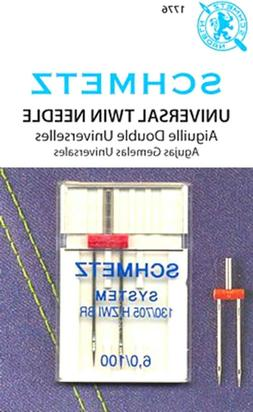 Schmetz Universal Twin Sewing Machine Needles~Size 6.0/100~P