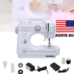US Portable Electric Sewing Machine Double Speed 12 Stitches