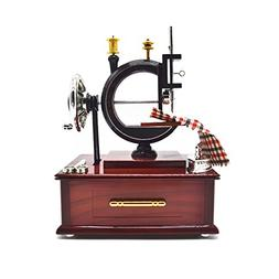 Anlydia Vintage Sewing Machine Design Trinket Music Box Gift