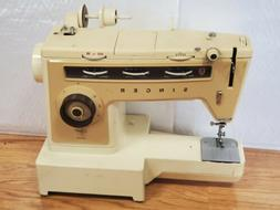 Vintage Singer Stylist 6548 Sewing Machine. Untested. Missin